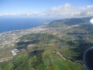 El Norte de Tenerife a vista desde el avión