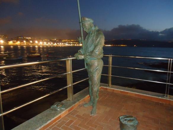 El pescador de Las Canteras.